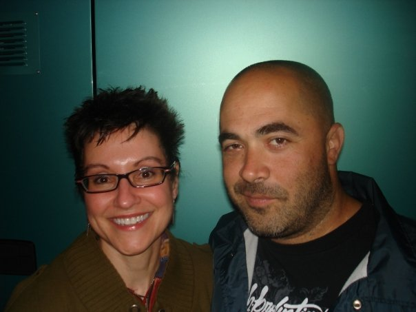 Mitzi Szereto with Aaron Lewis from Staind, Hard Rock Cafe, London