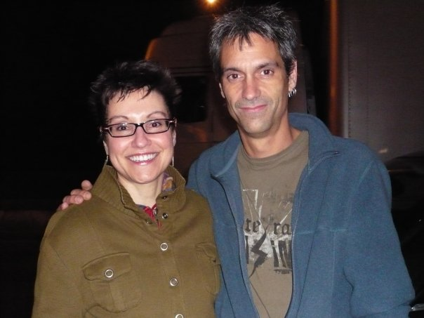 Mitzi Szereto with Johnny April from Staind, London