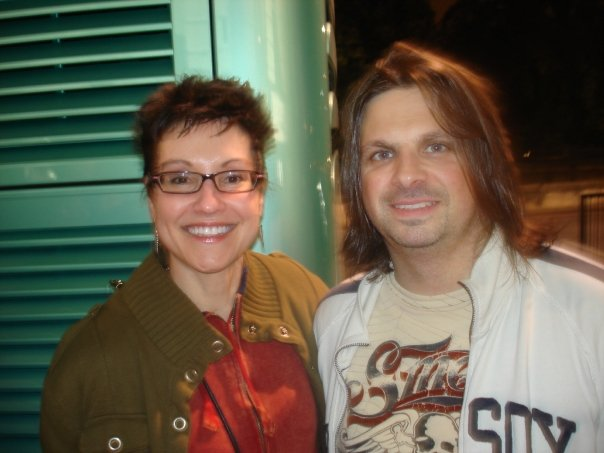 Mitzi Szereto with Mike Mushok from Staind, Hard Rock Cafe, London