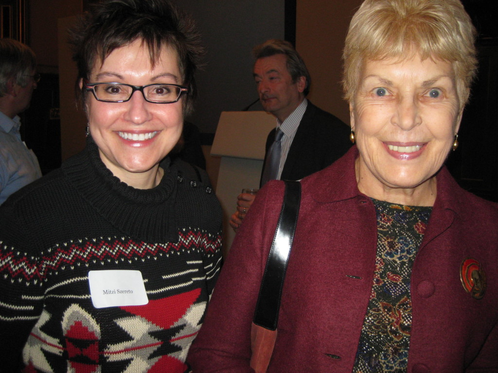 Mitzi Szereto with Baroness Ruth Rendell in London