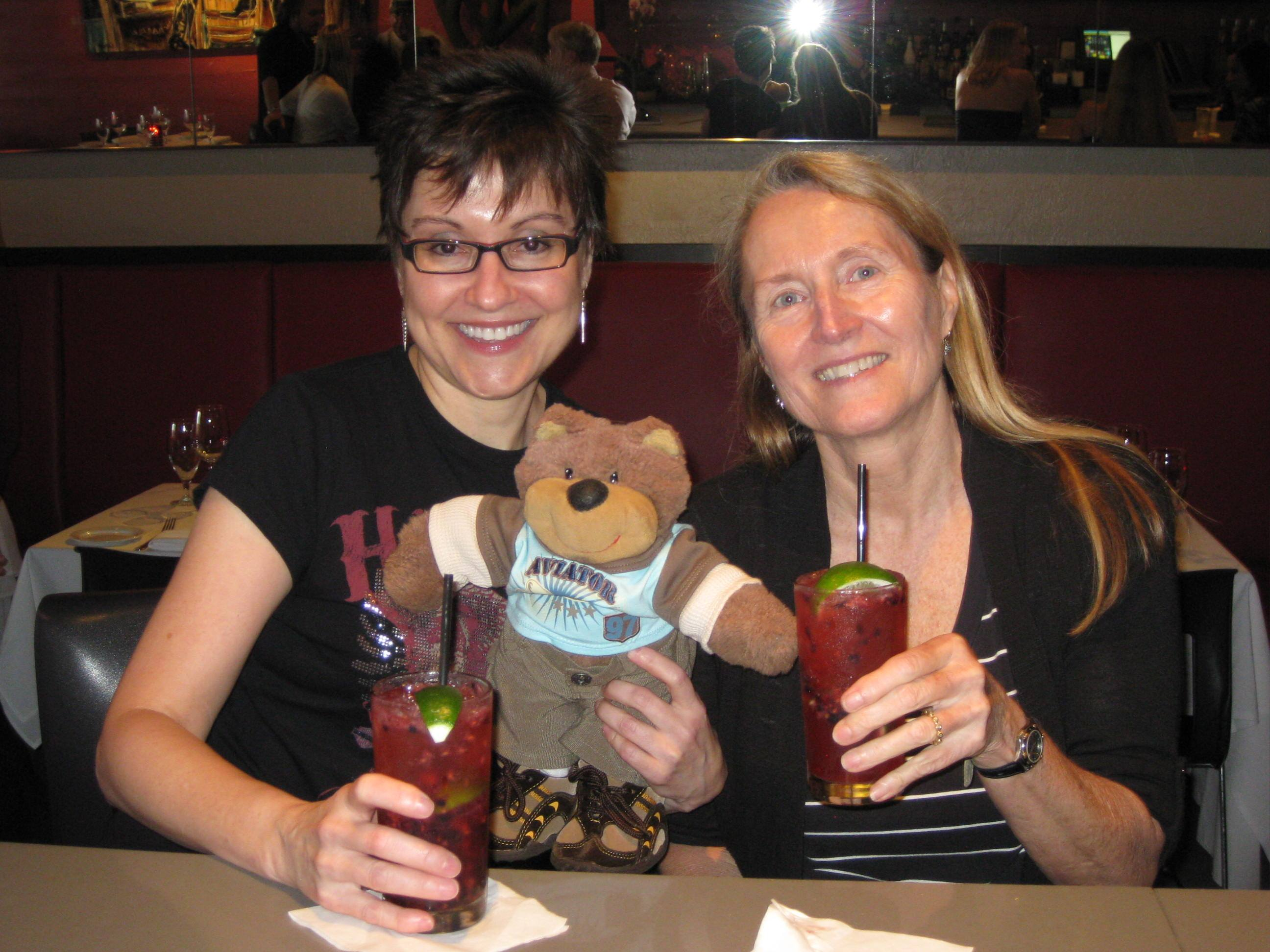 Mitzi Szereto with Teddy Tedaloo and author Vicki Hendricks, Fort Lauderdale