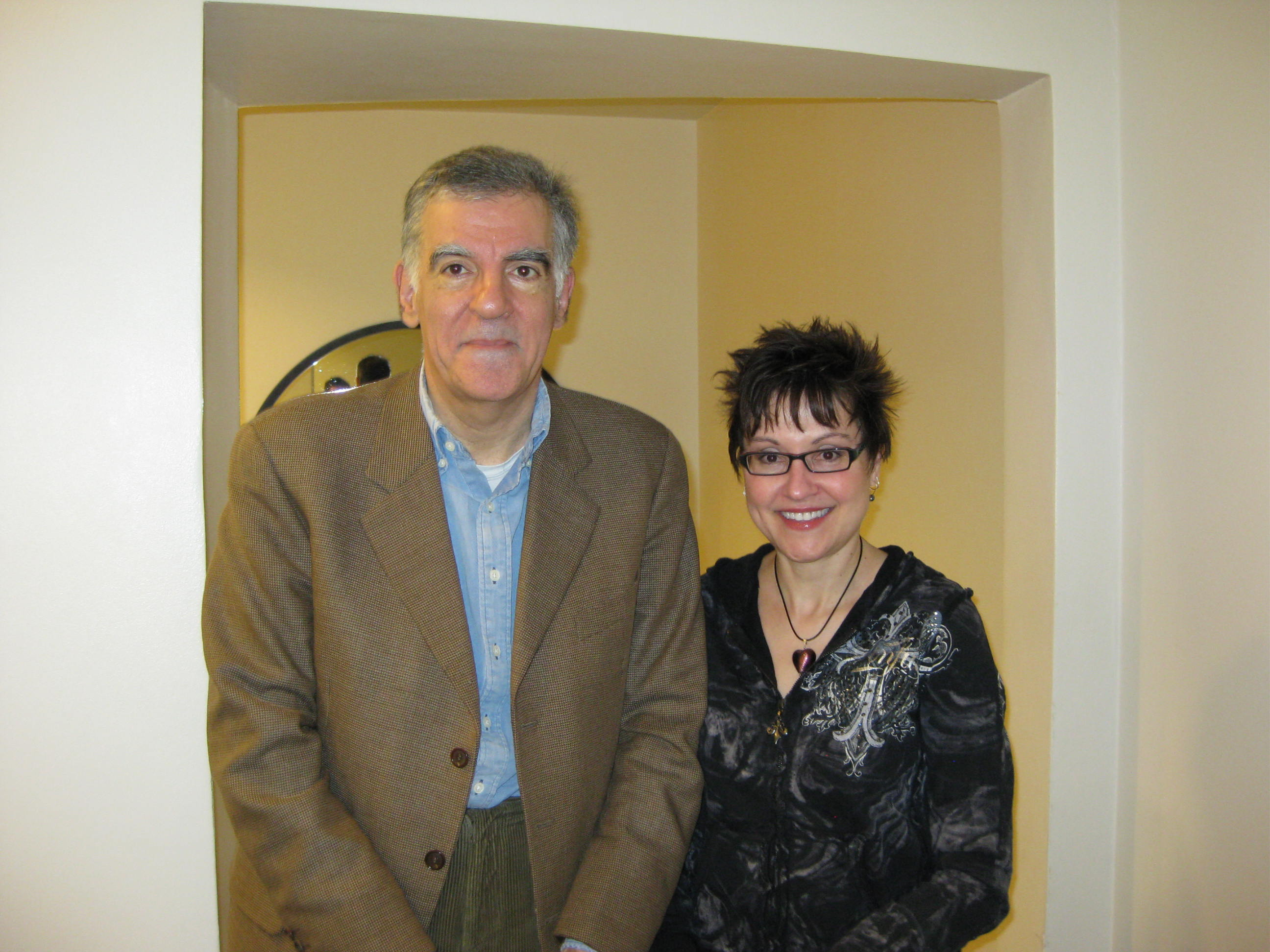 Mitzi Szereto with author Michael Arditti in London